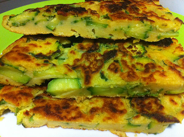 frittata vegana di zucchine